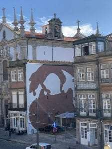 Not as many murals in Porto, but the ones that are there are cool